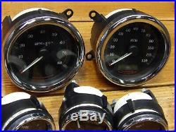 04-07 Harley Touring Flh / Flt Jauge Set Compteur mph RPM Carburant Volt Air