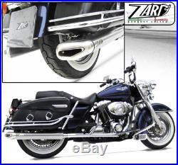2 Silencieux Zard Penta Alu Silver Racing Harley-davidson Touring 1995/13