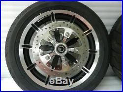 2009-2018 Harley Touring Impeller Jeu de Roues Paire avant et Arrière With Rotors