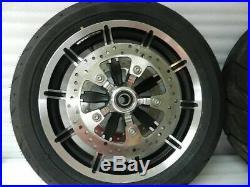 2009-2018 Harley Touring Rotor Roue Set Paire avant et Arrière avec / / Pneus