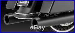 46751 Vance & Hines Noir Sortie Rond Slip-On Silencieux Harley Touring 95-15