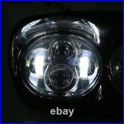 80W moto Hi/Lo faisceau double phare LED pour Harley Davidson Touring Road Glide