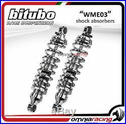 Bitubo Couple Amortisseurs arrière chrome 326mm HD Touring Road King 2001