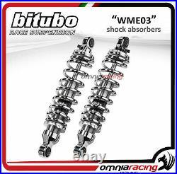 Bitubo Couple Amortisseurs arrière chrome 326mm HD Touring Road King 2003