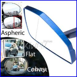 Bleu rétros CNC Cleaver style pour Harley softail dyna v-rod touring sportster
