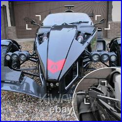 Chromé rétros CNC Cleaver style pour Harley softail dyna v-rod touring sportster