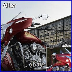 Grand bleu rétros CNC Cleaver look pour Harley chopper cruiser touring sportster