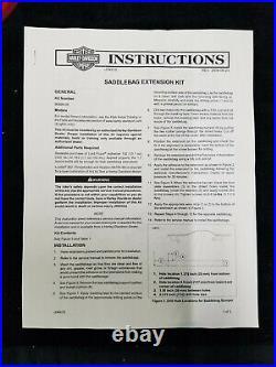 HARLEY DAVIDSON Touring Sacoche Extension Kit Apprêt 2004-2013