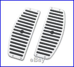 Harley Chrome & Caoutchouc Rider Pied Board Inserts Touring Softail Fabriqué en