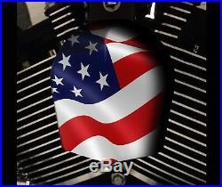 Harley Davidson Custom Corne Housse Touring Dyna Softail Sportster M8 Drapeau