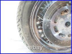 Harley Davidson Evo Touring Electra Glide à Lacet Roue Avant Jante & Rotors