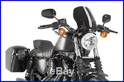 Harley Davidson Sportster 883 2011 Bulle Puig Noir Touring Naked