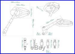 Magazi rétroviseur modèle VIPER bleu marine pour Harley chopper cruiser touring