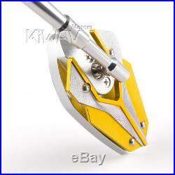 Magazi rétroviseur modèle VIPER jaune d'or pour Harley chopper cruiser touring