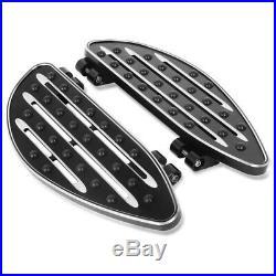 Marchepieds aluminium pour Harley Davidson Touring et Softail 86-20 noir