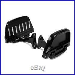 Marchepieds pour passager+kit ST2 pour Harley Davidson Touring 93-18 noir