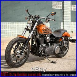 Pair rétroviseur Achilles noir + orange CNC pour Harley chopper cruiser touring