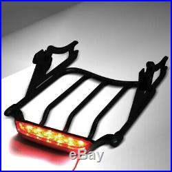 Porte-bagages Air Wing LED Feux Arrière pour Harley Davidson Touring 09-20 noir
