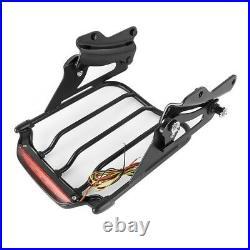 Porte-bagages LED+Kit pour Harley Davidson Road Glide Special 15-20 noir