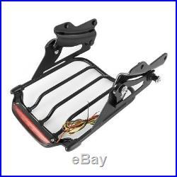 Porte-bagages LED+Kit pour Harley Davidson Road King Special 17-20 noir