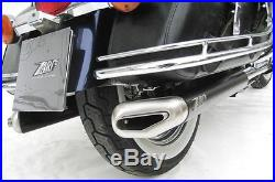 Pot D'echappement Silencieux Zard Inox / Alu Noir Harley-davidson Touring 95/13