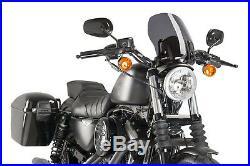 Puig Saute Vent Naked N. G. Touring Harley D. Sportster Custom 2010 Fume Fonce