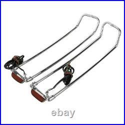 Rails de sacoches LED pour Harley Electra Glide Standard 96-10 chrome