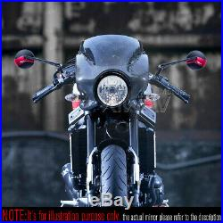 Rétros Missie mat noir stem + rouge belt pour Harley chopper cruiser touring