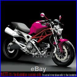 Rétros moto Missie rose /carbone blanc pour Harley chopper cruiser touring