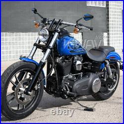 Rétroviseur Achilles 3D noir bleu pliable pour Harley chopper cruiser touring