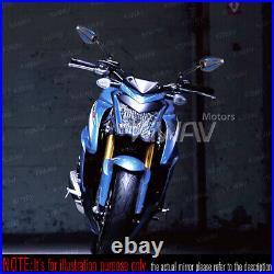 Rétroviseur Achilles noir + bleu réglable pour Harley chopper cruiser touring