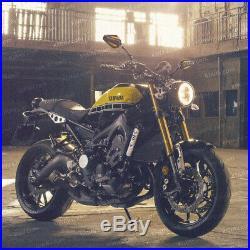 Rétroviseur Achilles noir + or réglable pour Harley chopper cruiser touring