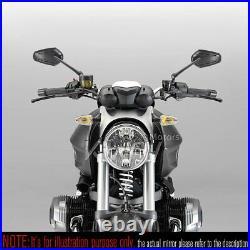 Rétroviseur noir ZIPPER style aluminum stem pour Harley chopper cruiser touring
