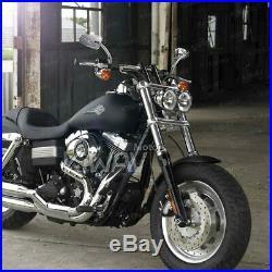 Rétroviseurs chromé LED clignotant arrow panel pour Harley softail touring v-rod