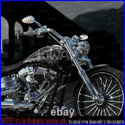 Rétroviseurs chromé clignotant style arrow led pour Harley softail touring v-rod