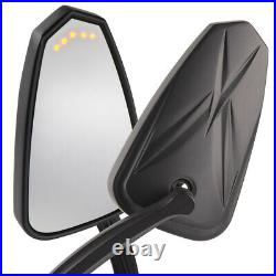 Rétroviseurs noir LED clignotant arrow panel pour Harley softail touring v-rod