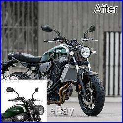 Robust motorcycle rétroviseurs palm style noir aluminum CNC pour Harley Touring