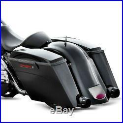 Sacoches Rigides Prolongés pour Harley Davidson Touring 94-13 noir mat
