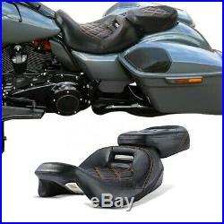 Selle pour Harley Davidson Touring 09-20 Siège Pilot Passager RH3