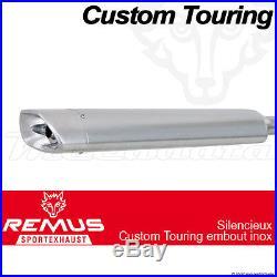 Silencieux Pot échappement Remus Touring Inox ECS Harley-Davidson FLHR 09