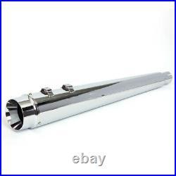 Silencieux d'échappement Slip-On Dual Pipes pr Touring 95-16 Electra Glide FLHTC