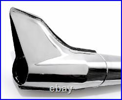 Silencieux d'échappement chromé Fishtail Harley Davidson Touring Universal 72cm