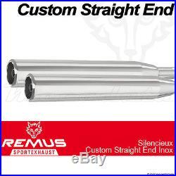 Silencieux échappement Remus Straight End Inox Harley-Davidson Touring FL2, FL3