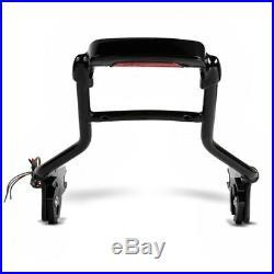 Sissy Bar avec LED feu arrière detachable p. Harley Davidson Touring 09-19 noir