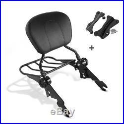 Sissy Bar + porte bagages + Kit Fixation p. Harley-Davidson Touring 14-19 noir