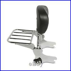 Sissy Bar + porte bagages + Kit Fixation p. Harley-Davidson Touring 97-08 chrome