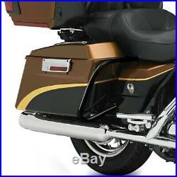 Support de sacoche rigide pour Harley Street Glide 06-08 protection arrière noir