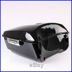 Valise Top case King pour Harley Davidson Touring 14-19 sans dossier noir LC